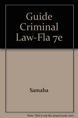 Guide to Criminal Law for Florida 2nd 2002 9780534563752 Front Cover