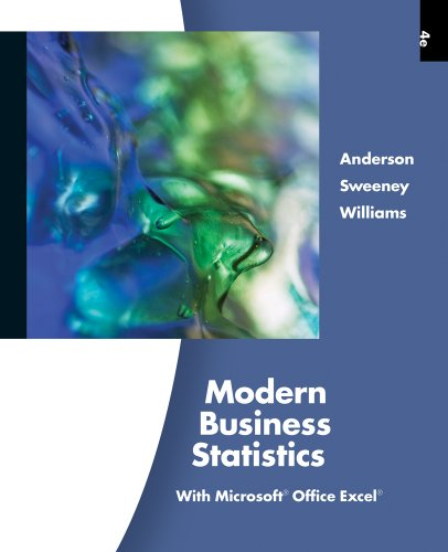 Modern Business Statistics with Microsoft� Office Excel�  4th 2012 9780538479752 Front Cover