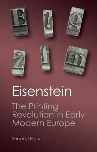 Printing Revolution in Early Modern Europe  2nd (Revised) edition cover