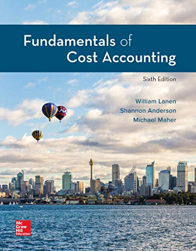 FUNDAMENTALS OF COST ACCT.(LOOSELEAF)   N/A 9781260708752 Front Cover