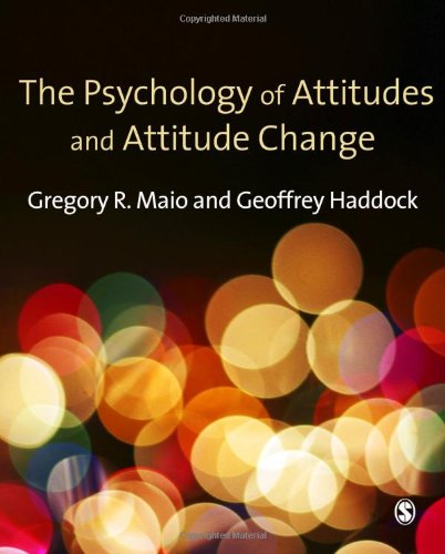 Psychology of Attitudes and Attitude Change   2010 edition cover