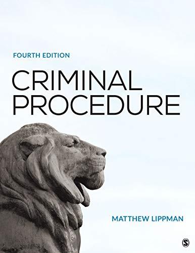 Criminal Procedure  4th 2020 9781544334752 Front Cover