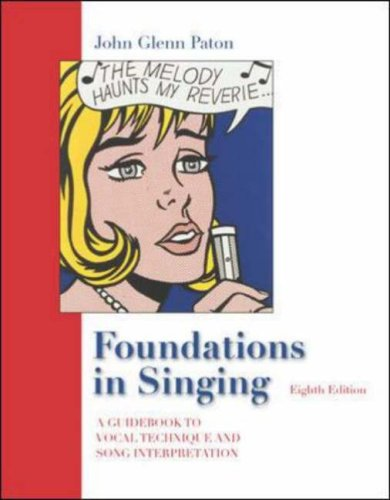 Foundations in Singing  8th 2006 (Revised) edition cover