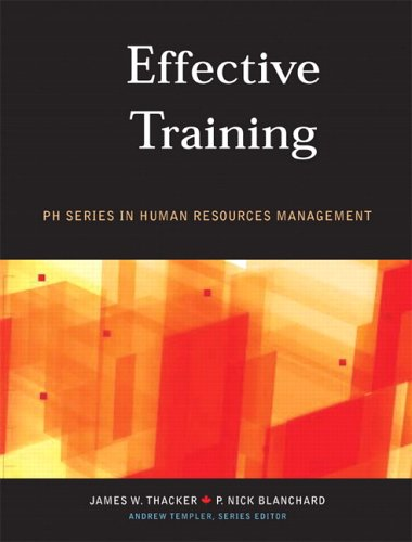 EFFECTIVE TRAINING 1st edition cover