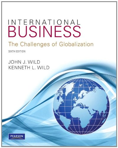 International Business The Challenges of Globalization 6th 2012 (Revised) edition cover