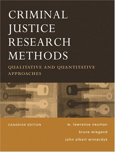 CRIMINAL JUSTICE RESEARCH...>C 1st edition cover