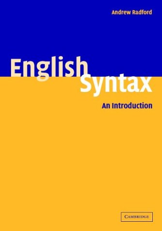 English Syntax An Introduction  2004 edition cover