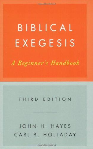 Biblical Exegesis A Beginner's Handbook 3rd 2007 edition cover
