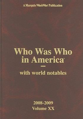 Who Was Who in America:  2009 edition cover