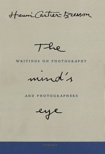 Mind's Eye Writings on Photography and Photographers  2009 edition cover