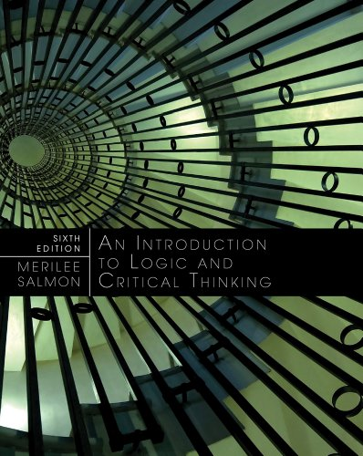 Introduction to Logic and Critical Thinking  6th 2013 edition cover