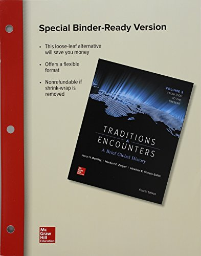 Looseleaf for Traditions and Encounters: a Brief Global History Volume 2  4th 2016 9781259712753 Front Cover