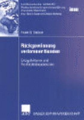 R�ckgewinnung Verlorener Kunden   2002 9783824477753 Front Cover