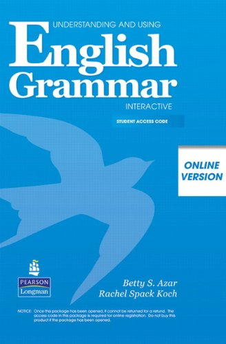 Understanding and Using English Grammar Interactive, Online Version, Student Access   2008 edition cover