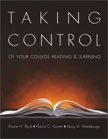 Taking Control of Your College Reading and Learning   2001 edition cover