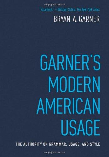 Garner's Modern American Usage  3rd 2009 edition cover