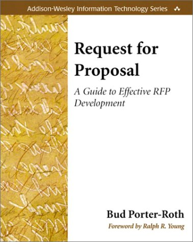 Request for Proposal A Guide to Effective RFP Development  2002 edition cover