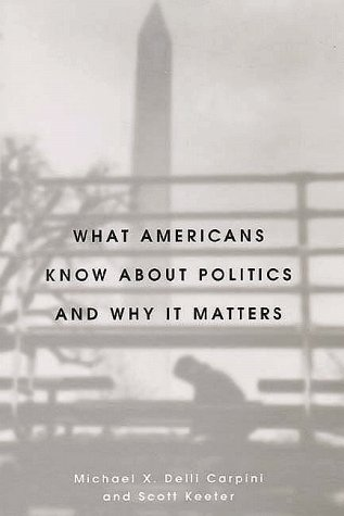 What Americans Know about Politics and Why It Matters   1997 9780300072754 Front Cover