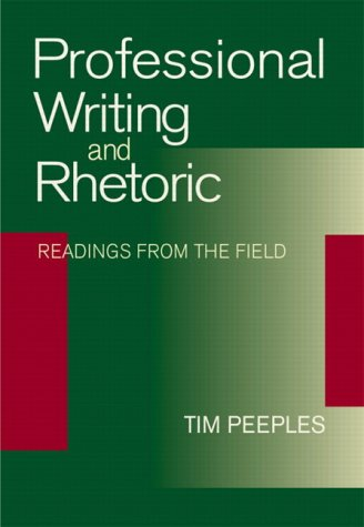 Professional Writing and Rhetoric Readings from the Field  2003 edition cover