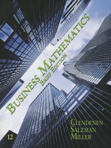 Business Mathematics Brief Plus MyMathLab -- Access Card Package/MyStatLab  12th 2012 edition cover