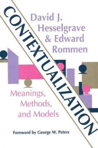 Contextualization Meanings, Methods, and Models  2000 edition cover