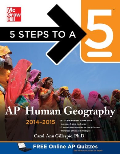 5 Steps to a 5 AP Human Geography, 2014-2015 Edition  2nd 2013 9780071803755 Front Cover
