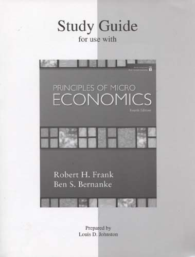 PRINCIPLES OF MICROECONOMICS-S N/A 9780073362755 Front Cover