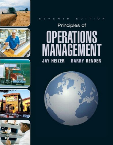 Principles of Operations Mangement  7th 2008 9780132449755 Front Cover