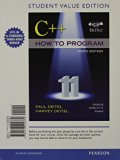 C++ How to Program, Early Objects  9th 2014 (Student Manual, Study Guide, etc.) edition cover