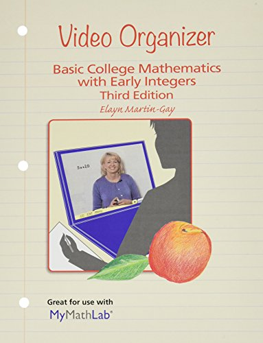 Video Organizer for Basic College Math With Early Integers:   2015 9780133864755 Front Cover
