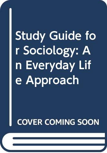 Sociology 1st (Student Manual, Study Guide, etc.) 9780314047755 Front Cover