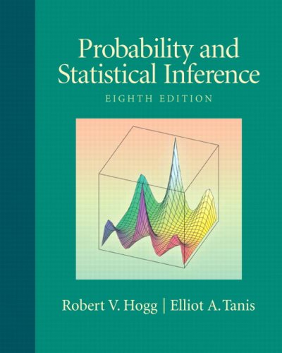 Probability and Statistical Inference  8th 2010 edition cover