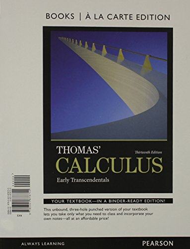 Thomas' Calculus Early Transcendentals 13th 2014 edition cover