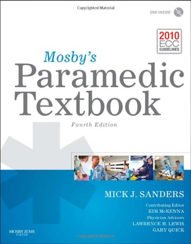 Mosby's Paramedic Textbook  4th 2012 edition cover