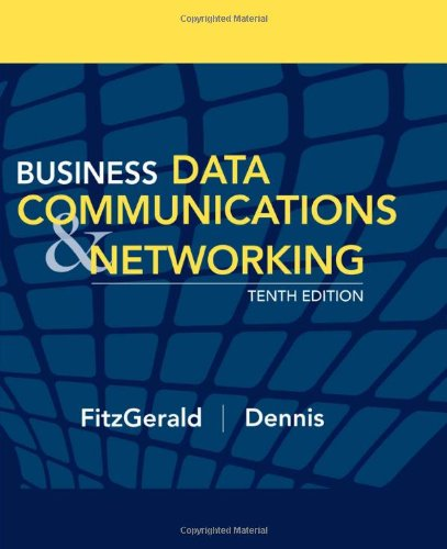 Business Data Communications and Networking  10th 2009 edition cover