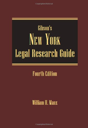 Gibson's New York Legal Research Guide:   2014 edition cover