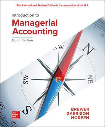 Intro. to Managerial Accounting 8th 9781260091755 Front Cover