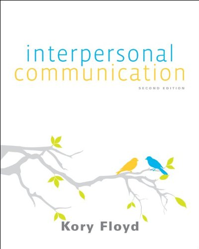 Interpersonal Communication  2nd 2012 edition cover