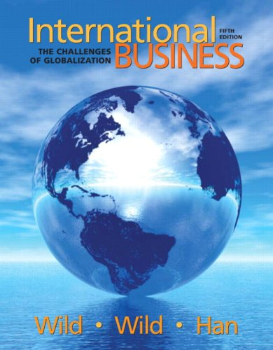 International Business The Challenges of Globalization 5th 2010 edition cover