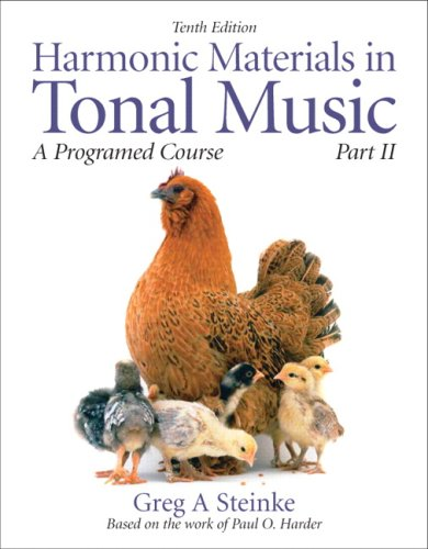 Harmonic Materials in Tonal Music A Programmed Course 10th 2010 edition cover