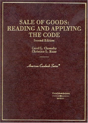 Sale of Goods Reading and Applying the Code 2nd 2004 (Revised) edition cover