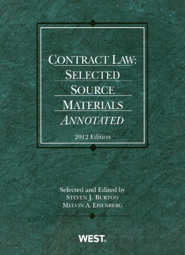 Contract Law Selected Source Materials Annotated 2012  2012 edition cover