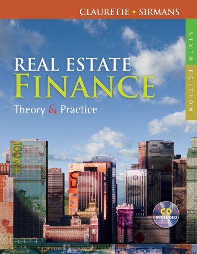 Real Estate Finance Theory and Practice (with CD-ROM) 6th 2010 edition cover