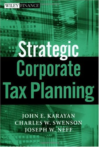 Strategic Corporate Tax Planning   2002 edition cover