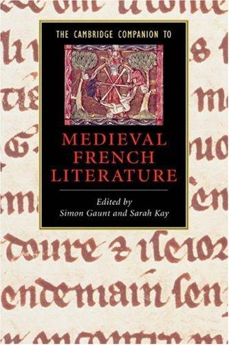 Cambridge Companion to Medieval French Literature   2008 edition cover