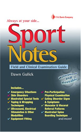 Sport Notes Field and Clinical Examination Guide  2008 edition cover