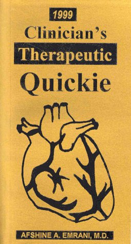 CLINICIAN'S THERAPEUTIC QUICKI 1st 9780965468756 Front Cover