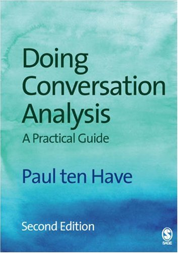 Doing Conversation Analysis  2nd 2007 edition cover