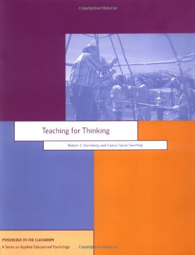 Teaching for Thinking   1996 9781557983756 Front Cover