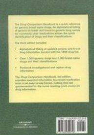 Drug Comparison Handbook  3rd 1998 (Revised) 9781569300756 Front Cover